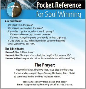 Riley Stephenson - Pocket Reference for Soulwinning Card